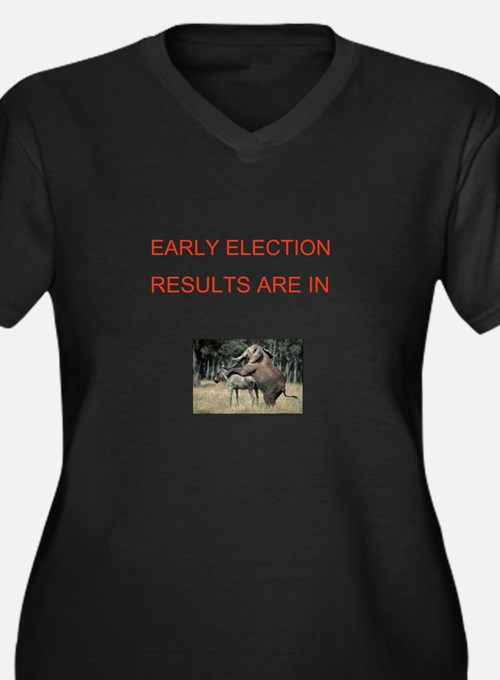 Cute Election results Women's Plus Size V-Neck Dark T-Shirt