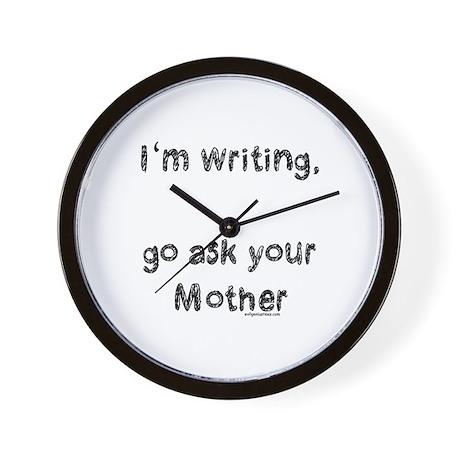 Writing, ask mom Wall Clock