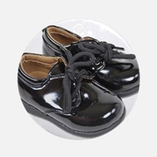 Shiny Infant Shoes Ornament (Round)
