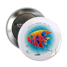 """Peace Under The Sea 2.25"""" Button (10 pack)"""