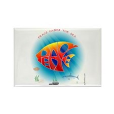 Peace Under The Sea Rectangle Magnet