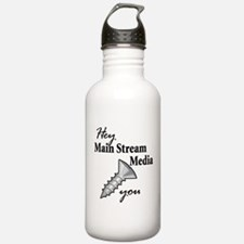 Cool Liberal media Water Bottle