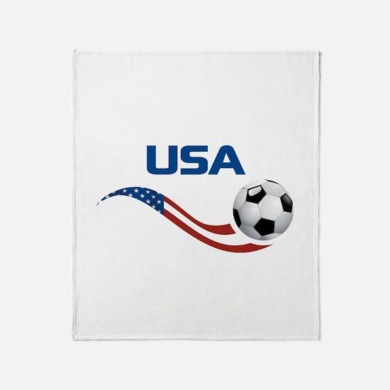 Soccer USA Throw Blanket