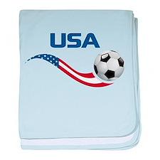Soccer USA baby blanket