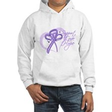 Heart Ribbon Cancer Hoodie