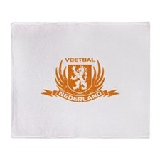 Voetbal Nederland Cres Throw Blanket