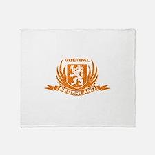 Voetbal Nederland Cres Throw Blanket