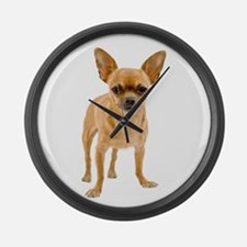 Chihuahua Stand Large Wall Clock