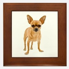 Chihuahua Stand Framed Tile