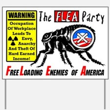 """""""The Flea Party"""" Poster Yard Sign"""