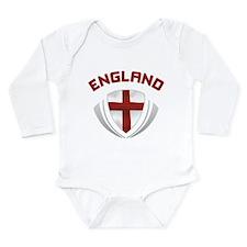Soccer Crest ENGLAND red Long Sleeve Infant Bodysu