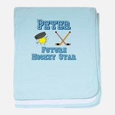 Peter - Future Hockey Star baby blanket