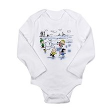 The Gang Goes Ice Skating Long Sleeve Infant Bodys