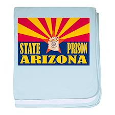 Arizona State Prison baby blanket