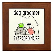 Pet Groomer Extraordinaire Framed Tile