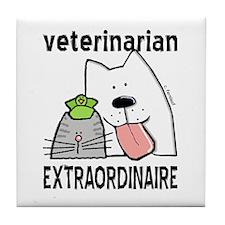 Veterinarian Extraordinaire Tile Coaster