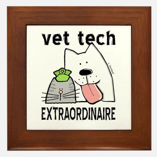 Vet Tech Extraordinaire Framed Tile