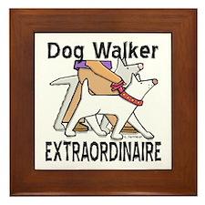Dog Walker Extraordinaire Framed Tile