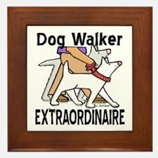 Dog Walker Extraordinaire Framed Tile