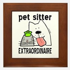 Pet Sitter Extraordinaire Framed Tile