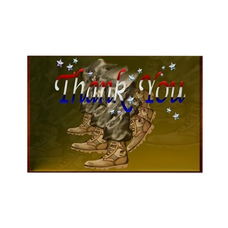 Thank You Veterans Rectangle Magnet (100 pack)
