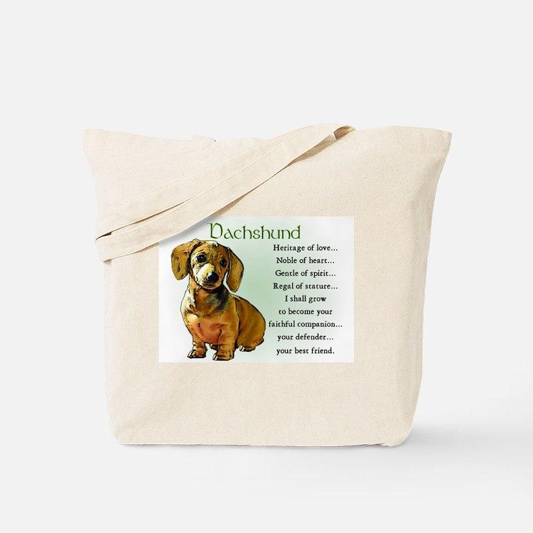 Dachshund Puppy Tote Bag