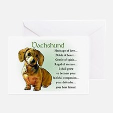 Dachshund Puppy Greeting Cards (Pk of 10)
