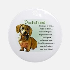 Dachshund Puppy Ornament (Round)