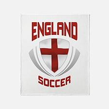 Soccer Crest ENGLAND Throw Blanket