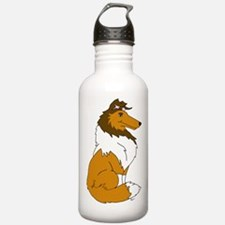 Sable Rough Collie Water Bottle