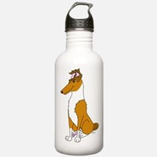 Smooth Sable Collie Water Bottle