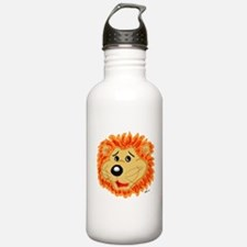 Smiling Lion Face Water Bottle