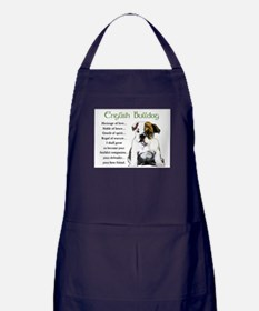 English Bulldog Apron (dark)