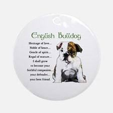 English Bulldog Ornament (Round)