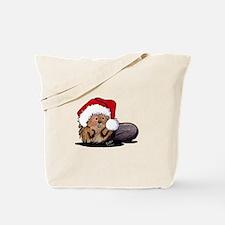 Christmas Beaver Tote Bag