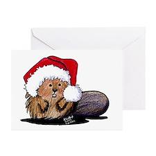 Christmas Beaver Greeting Cards (Pk of 10)