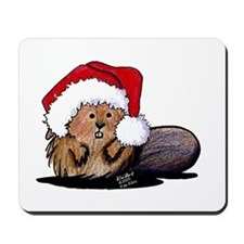 Christmas Beaver Mousepad