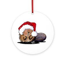 Christmas Beaver Ornament (Round)