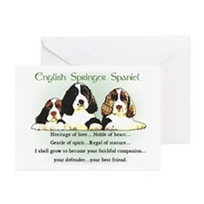 Springer Spaniel Greeting Cards (Pk of 10)