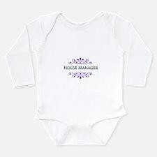 House Manager Name Badge Long Sleeve Infant Bodysu