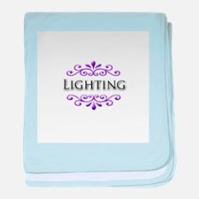Lighting Name Badge baby blanket