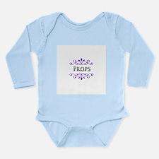 Props Name Badge Long Sleeve Infant Bodysuit