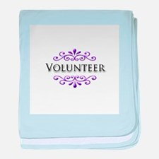 Volunteer Name Badge baby blanket