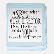 Ask Not Music Director baby blanket