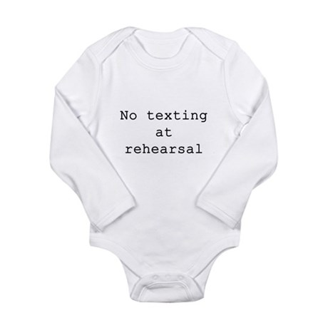 No Texting Long Sleeve Infant Bodysuit