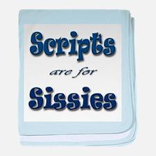 Script Sissies baby blanket