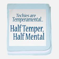 Temperamental Techie baby blanket