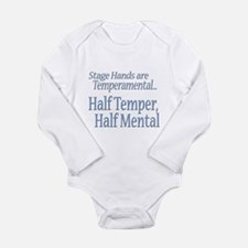 Temperamental Stage Hand Long Sleeve Infant Bodysu