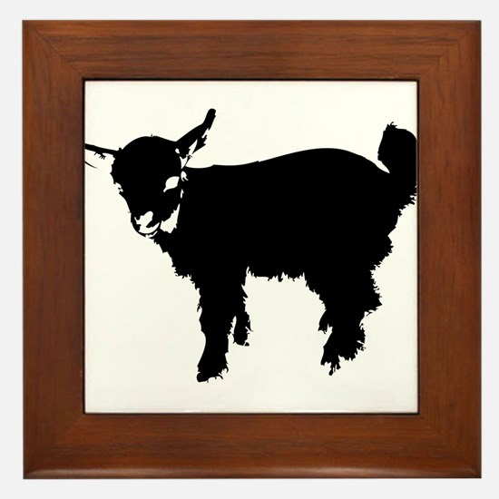 Unique Goat t Framed Tile