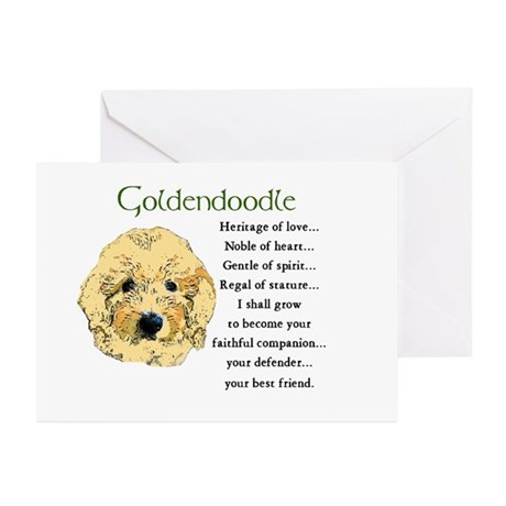 Goldendoodle Puppy Greeting Cards (Pk of 10)